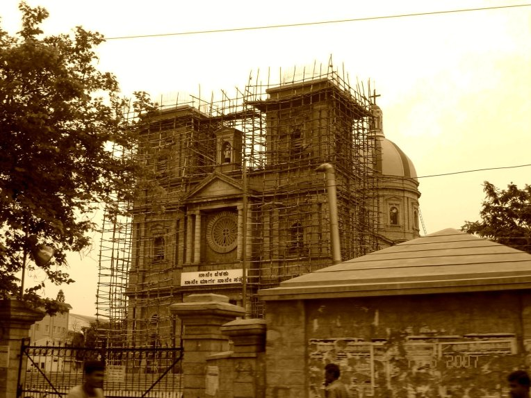 St Johns Church, when it was undergoing restoration.