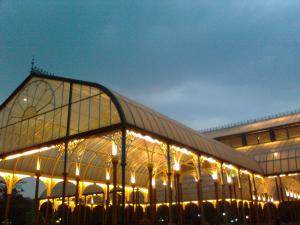 The Glass House at Lalbagh, Bangalore, lit up on the occasion of Ugadi