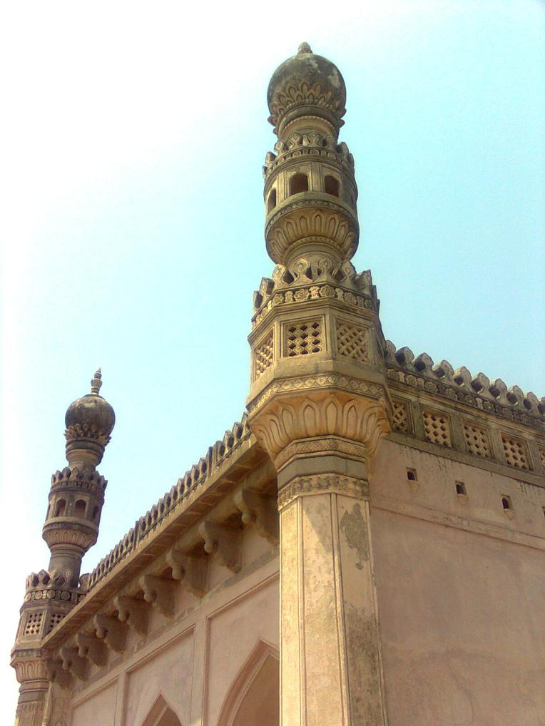 A view of the minaret of the Golconda fort, Hyderabad