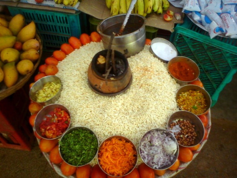 Tirupati street food spread