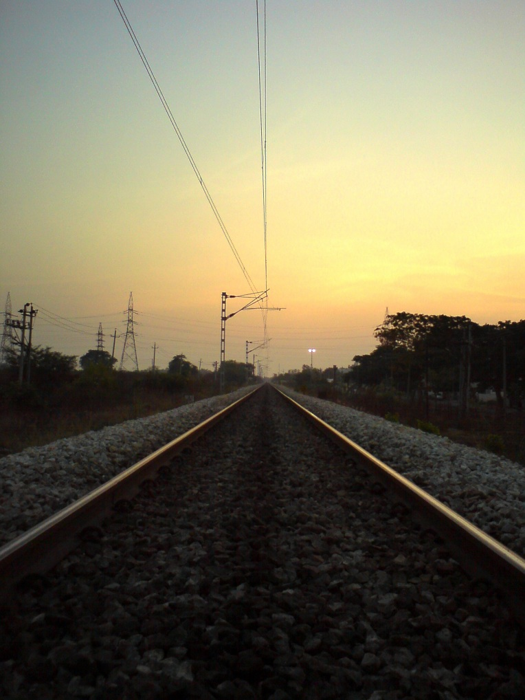 train track dawn